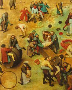 """Children's Games"" (detail), 1560, Pieter Bruegel the Elder. (via)"