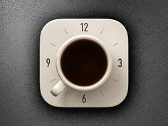 Coffee Alarm Clock iOS icon #mobileappicons #iosappicon #uidesign #graphicdesign #inspiration