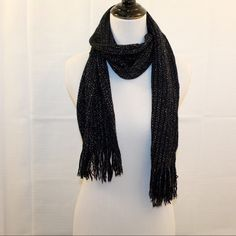 Black & Silver Sparkly Convertible Scarf One Size Black & Silver Sparkly Convertible Scarf One Size  * Never WORN. No Noted Flaws. * Bundles Available at a 5% Discount. * Please See Pictures & Ask Questions. * Sorry No Trades. Accessories Scarves & Wraps
