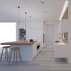 Designer Michelle Grinker - Pauline Georges - My Ideas A modern Scandinavian kitchen renovation kitchen design ideas modern - are necessary when you're going to build a nice kitchen. They can help you to get a good judgment which style is the most suita Modern Kitchen Design, Interior Design Kitchen, Diy Kitchen Cabinets, Kitchen Decor, Kitchen Ideas, Kitchen Island Bench, Kitchen Walls, Kitchen Layout, Scandinavian Kitchen Renovation
