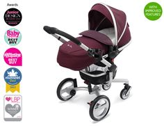 Buy Raspberry Surf Pushchair & Pram System from Silver Cross. Or blue depending on sex of baby. Silver Cross Prams, Prams And Pushchairs, Baby Dino, Baby Buggy, Dolls Prams, Baby Prams, Baby Jogger, Travel System, Baby Booties