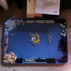 Rubbermaid lid to organize your Ikea hardware!