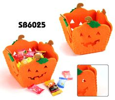 Pumpkin storage basket Description:    •	Material: 5mm thickness felt •	Dimension:13.5*13.5*12cm  •	New feature: Pumpkin shape storage basket   •	Eco-friendly Item,Good promotion item for Christmas gift  •	you can print or laser on your own logo  •	OEM designs are welcome!                    www.ideagroupigm.com