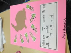Kindergarten Subtraction...no link, but I like the story problem aspect. Easy to make!