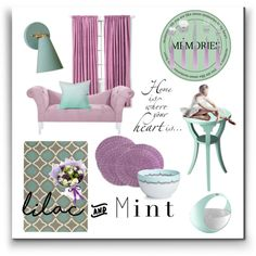 Lilac And Mint By Kari C On Polyvore Featuring Interior Interiors Design