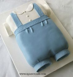baby shower cake   by quaintcake