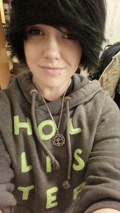 Image result for genderfluid emo hair