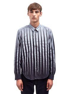 Sidian Ersatz and Vanes Mens Printed Chambray Classic Fit Shirt | LN-CC
