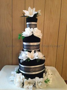 Towel Cake,  Floral Design