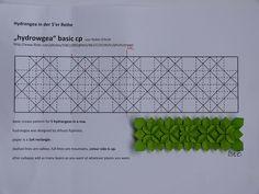 Origami hydrangea