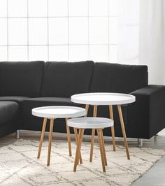 Om-sohvapöytä, S-koko, valkoinen