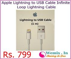 Apple Lightning to USB Cable Infinite Loop Lightning Cable Rs 799