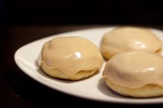 Caramel glazed baked doughnuts - how naughty are these?