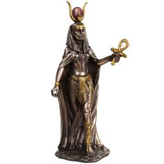 11-Inch-Egyptian-Hathor-Mythological-Goddess-Bronze-Finish-Figurine