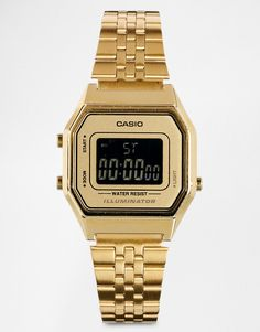 46c163e236a2 Casio LA680WEGA Mini Digital Gold Watch at asos.com