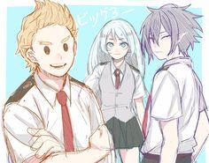 Boku no Hero Academia || Mirio Togata, Nejire Hadou, Tamaki Amajiki.