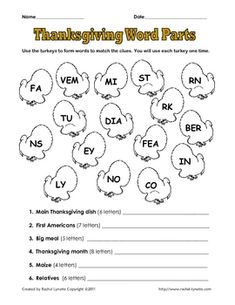 FREE Thanksgiving Word Activity. Repinned by SOS Inc. Resources @sostherapy.