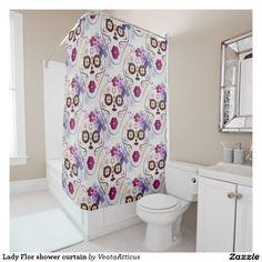 Lady Flor shower curtain