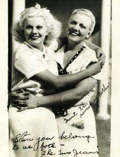 Jean Harlow and her mother, 1937