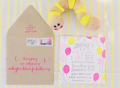 Sophie's First Birthday Party! |  Invitations: Printerette Press | Calligraphy: Meant to Be Calligraphy | Photo:  Vicki Grafton Photography