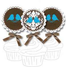 free printables - cupcake toppers bird