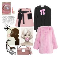 """""""Bubble the gum"""" by juliabachmann ❤ liked on Polyvore featuring Louis Vuitton, Gucci, Lanvin, Gianvito Rossi and Stila"""