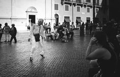 I have been going through photos that I took in Rome last year and I came across this one.  The Happy Dancer - he had just joined the band that was playing in the background and he started dancing.  It was really funny, because the band was getting a little bit annoyed that The Dancer was getting more attention from the crowd than they were.