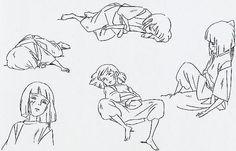 Film: Spirited Away (千と千尋の神隠し) ===== Character Design - Model Sheets: Haku…