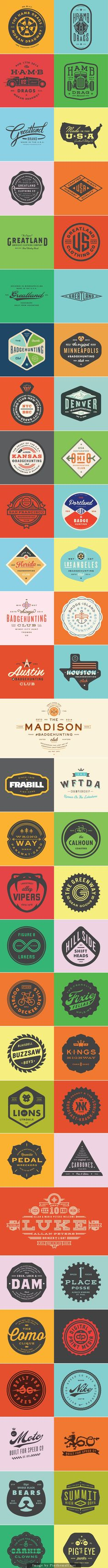 Creative Designs of Badges and Logos love these colors! Typography Logo, Lettering, Retro Logos, Badge Design, Design Reference, Graphic Design Inspiration, Branding Design, Logo Branding, Design Elements
