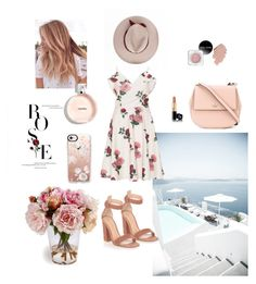 """Rose"" by emina-la ❤ liked on Polyvore featuring Chi Chi, Gianvito Rossi, Kate Spade, Casetify and plus size dresses"