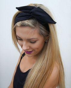 Rockabilly Headband Wired Dolly Bow PIN UP Fabric Headwrap Bandana