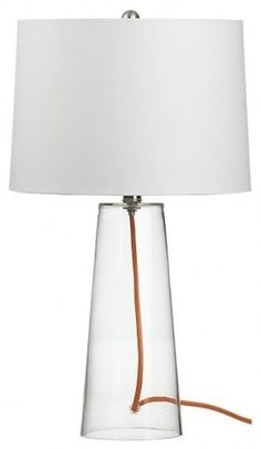 Mack with Orange Cord Table Lamp contemporary table lamps