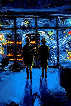 Fight Club Art - 24 x 36 nuit étoilée impression van Gogh ; jamais regardé la brûlure du monde par Aja Kusic