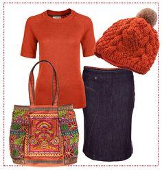 #Orange #knit & #Denim - #Winter #Style by Brigitte von Boch #bevonboch