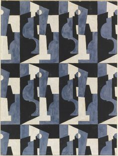 Drawing, Textile Design: Cubist Forms, 1930–31