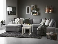 interior design grey walls unique living room grey walls or couch decorating ideas best sofa decor on rooms interior design bedroom grey walls Elegant Living Room, Living Room Grey, Living Room Sofa, Living Room Interior, Home Living Room, Modern Living, Modern Sofa, Modern Rugs, Cozy Living