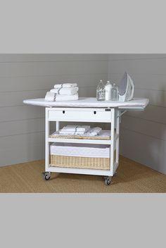 Mueble de plancha 3 cestos blanco cuarto de lavadora for Cesto ropa plancha