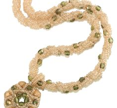 Stitch an elegant beaded necklace or bracelet using spiral rope stitch.