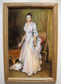 """Josephine Meyer, IGMA artisan - Oil Painting, """"Mrs Henry White"""" after the original by John Singer Sargent"""
