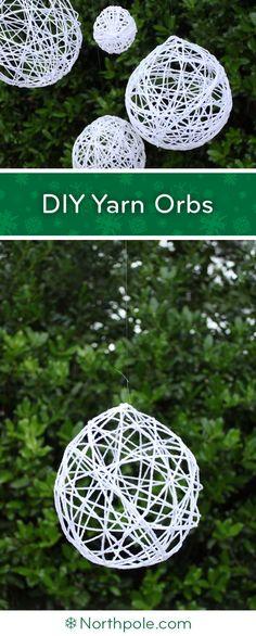 DIY Yarn Orbs • Northpole.com Craft Cottage