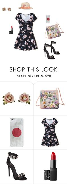 """""""Floral fantasy"""" by dubstepfighter ❤ liked on Polyvore featuring Les Néréides, Anuschka, Casetify, Hollister Co., Giuseppe Zanotti, NARS Cosmetics, My Bob, Spring and floral"""