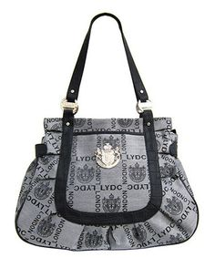 Lydc London Gray Pleated Signature Tote Bags