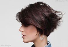 Top 17 Wedge Haircut Ideas for Short & Thin Hair in Jan 2019 . Top 17 Wedge Haircut Ideas for Short & Thin Hair . Short Wedge Haircut, Short Wedge Hairstyles, Stacked Bob Hairstyles, Bob Hairstyles For Fine Hair, Haircuts For Fine Hair, Haircut For Thick Hair, Hairstyles Haircuts, Cool Hairstyles, Wedge Bob Haircuts