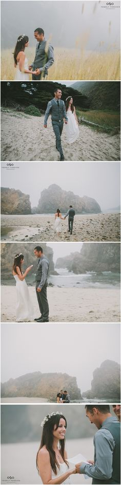 Heather + Brian's Big Sur Pfeiffer Beach Elopement Photography 3