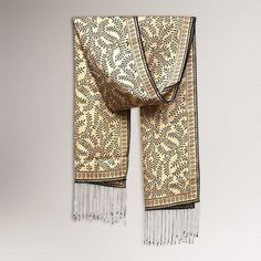 One of my favorite discoveries at WorldMarket.com: Novica Tropical Tamarind in Black Silk Batik Scarf
