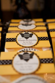 Busy bee Party ideas - cute of package wrapper