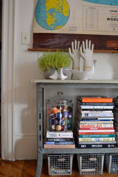 apartment therapy house tour filled with thrift store & flea market finds. love the industrial and mid-century pieces.