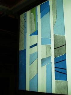 Proceso de ejecución del conjunto vidriero de Nuestra Señora del Rocío en Coia (Vigo).