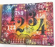 Image result for art journal page with tim holtz tissue