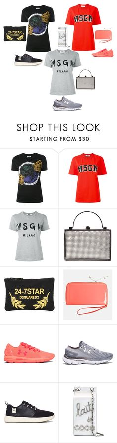 """""""catchy fashion"""" by emmamegan-5678 ❤ liked on Polyvore featuring Courrèges, MSGM, Dsquared2, Avenue, Under Armour and Chanel"""